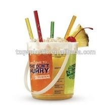 BPA Free 32OZ Cruzan rum drinking bucket punches with handle