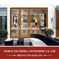 En alliage d'aluminium de conception intérieure ou extérieure intérieure bi portes pliantes pour salles de bains fabriqués en chine