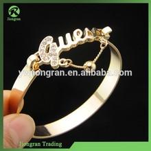 Hot selling cuff bangle bracelet, Korean alloy letter bangle