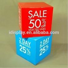 Custom Full Color Sales Square Cardboard Display for Shops