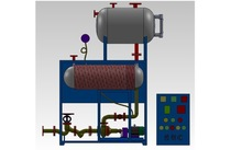 Induction heating machine for oil storage tank heating