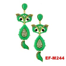 Fashion animal shaped earrings lovely fox