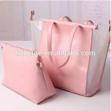 2014 popular Fashion pu beach bag set ,beach tote bag stock