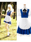 Izayoi Sakuya White and Blue Maid Cosplay Costume from Touhou Project