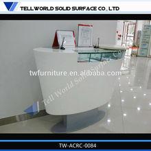 Solid Surface Bank Used Register Front Desk Small Workstation