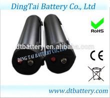 new arrival 48V 10ah lithium ion black color dolphin/bottle ebike battery pack