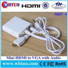 Manufacturer in Shenzhen Mini HDMI male Vga female audio support