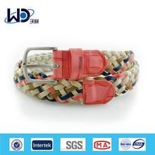2014 Fashion colorful ladies PU braided belts