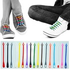 Colorful fashion decoration silicone shoelaces , Eco-friendly material unisex silicone shoe laces for personality decoration