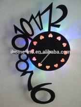 Acrylic wall clock with LED