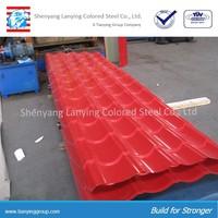 Prepainted corrugated metal roofing sheet