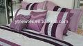 de color púrpura y blanco conjuntos de edredón acolchado colcha patchwork conjuntos