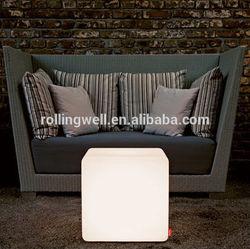 LED modern glowing ice cube /plastic led illuminated waterproof led ice outdoor sitting cube