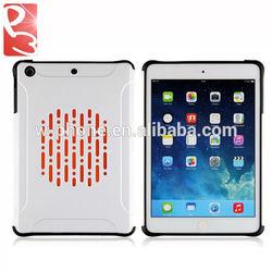 For iPad Mini 2 Case Armor White, MOQ:50 Pieces per Color