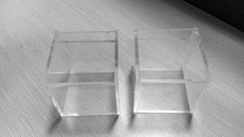 Multi function custom wholesale blank clear acrylic cube boxes with lid manufacturer