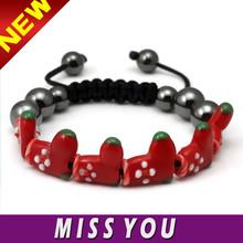 wholesale cheap price christmas stocking bracelet