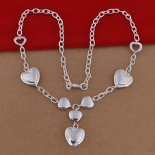 925 plain silver heart necklace silver jewelery