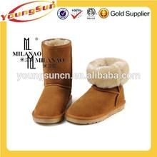 Chestnut Australia Sheepskin Stylish Ankle Boots For Women