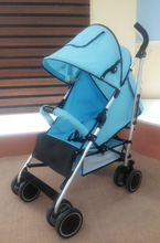 fasion design aluminum frame one hand operate backrest baby stroller