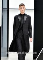 latest design for 2014 winter,custom tailored,elegant long coat for men