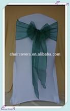 YHS#63 organza polyester banquet wedding wholesale chair cover sash