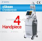 4 handpiece freeze fat criolipolisis machine/4 head cryolipolysis