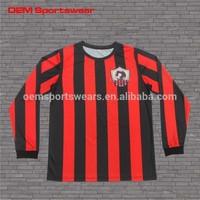 Printed football shirt maker soccer jersey manufacturer