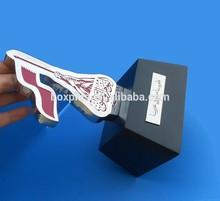 Qatar flag trophy with wooden base, Qatar national day souvenir trophy gifts