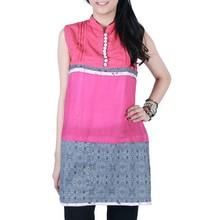Girls casual tunic indian women sleeveless blouse