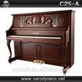 instrumentos musicais estrangeiras e artesanal chinês marrom fosco e grand piano vertical