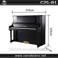 instrumentos musicais estrangeiras e artesanal chinês preto polido e grand piano vertical