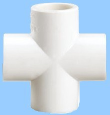 pvc cross pipe fitting pipe cross four ports