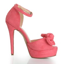 CATWALK-S1570220 elegant style sandals women butterfly sexy fashion wedges sandal for 2014/famous brand shoes pink color heels