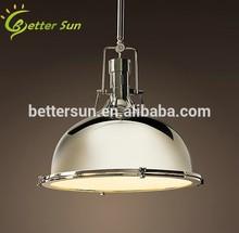 Industrial Retro Nautical Chrome Pendant Lamp Hanging Ceiling Light