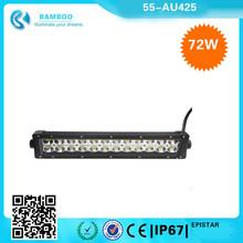 CA USA AU 4WD 4x4 72W 24 LEDs Epistar Beam Off Road LED Light Bar for Off-road Vehicle/ATVs/SUV