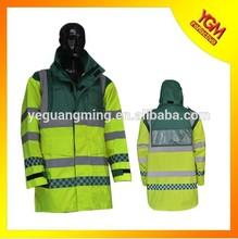high visibility raincoat reflective jacket EN471