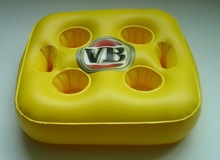 PVC Inflatable Can Holder, Beach bum beer holder,High Quality Floating Beer Can Holder