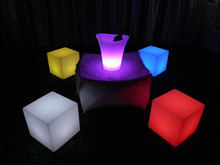 illuminated led cube chair / 3d led mood light cube glowing ice cube chair