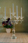 Tall hot selling crystal lotus flower candle holder