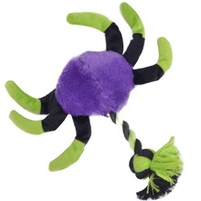 Smart Crab Squeaker Cotton Rope Plush Toy Dog