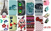 IMD customized pattern PU leather Case for LG L70 Soft TPU wallet style