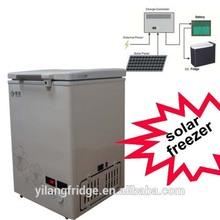 Hot selling 108L 12V DC solar chest deep freezer 12v dc freezer fruit and vegetable display freezer