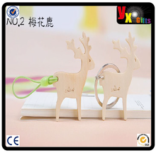 trophies made in china/new products 2014/ Sika Deer shaped Wooden Keychain
