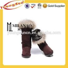 High quality cheap price women rabbit fur boots