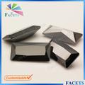 عالية الجودة تشيكوسلوفاكيا الأحجار الكريمة الأوجه أحجار كريمة مستطيل الاصطناعية الماس الأسود الأسعار