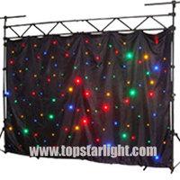 china Guangzhou LED star cloth curtain 4*3meter mixed RGB/cortina led