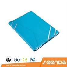 2014 new arrival leather cover with Rubberized hard back case for iPad air 2 /iPad 6
