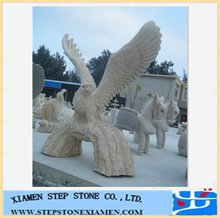 Hand-carved stone animal for stone eagle statue