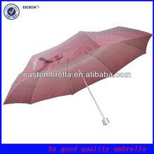 Manual Open Cheap Aluminum 3 Folding Custom Clear Umbrella