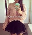 Nuevo diseño de la mujer 3d flor color de rosa tops de gasa blusa jh-bl-152 camisas